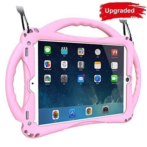 """TopEsct Cover per 2018&2017 iPad 9.7"""" e iPad Air per Bambini Antishock con Maniglie e Piedistallo. Perfetto anche per iPad air, iPad 9.7 inch 2018&2017 Edizione(iPad Air&iPad 9.7inch, Pink)"""