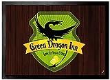 1art1 102123 Restaurants - Zum Grünen Drachen Fußmatte Türmatte 70 x 50 cm