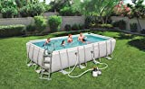 Bestway - Piscine hors sol Power Steel rectangulaire 549 x 274 x 122 cm avec filtre...