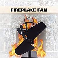 Chimenea térmica del ventilador eléctrico, ventilador de chimenea, chimenea de doble hoja de calor