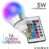 Esbaybulbs LED RGB Lampen 5W E14 Dimmbar Glühbirne mit Fernbedienung Farbwechsel Birnen Party Leuchtmittel