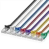 Best Ordinateur pour le streaming Internet Vidéos - TNP Cat6Câble Ethernet Patch 5-color Combo Pack–Professional blindé Review