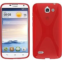 Funda de silicona para Huawei Ascend G730 - X-Style rojo - Cover PhoneNatic Cubierta + protector de pantalla