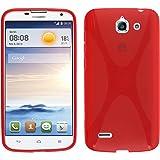 PhoneNatic Custodia per Huawei Ascend G730 Cover rosso X-Style Ascend G730 in silicone + pellicola protettiva