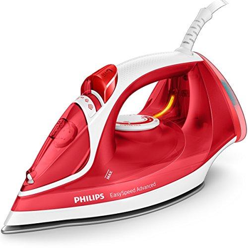 Philips EasySpeed Advanced GC2672/40 Plancha de Vapor, 2300 W, 35 g/min de Vapor Continuo, Depósito de Agua de 300 ml, Suela Cerámica, Color Rojo