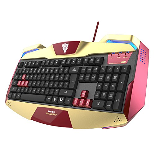 E-Blue Iron Man Gaming-Tastatur (Marvel North America, offizielles Lizenzprodukt)