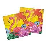 12 Hibiskus Servietten Hawaii Motivservietten 33 x 33 cm Papierservietten Südsee Einwegservietten Tischdeko