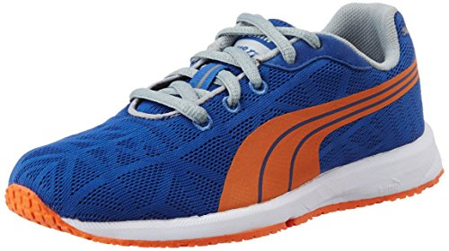 Puma Boy's Narita V2 Jr Sodalite Blue and Vermillion Orange Mesh Sports Shoes - 11C UK  available at amazon for Rs.1959