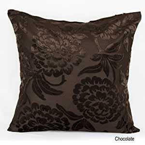 """Crushed Velvet Cushion Covers Decorative Pillowcases Color Chocolate Size 17""""X17"""" 43x43 cm"""