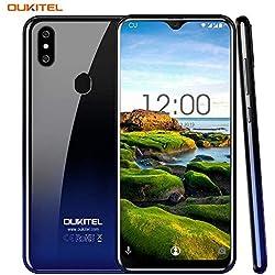 """OUKITEL C15 Pro 6.088"""" Écran 19: 9 2.4G/5G WiFi Android 9.0 Smartphone 3GB +32GB MT6761 Quad-Core 2.0GHz 4G LTE 3200mAh Batterie Double Caméra Téléphone Portable (Twilight)"""