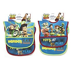 Toy Story Two Pack Deluxe Vinyl Bib by Disney
