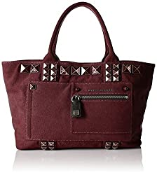 Marc Jacobs Canvas Chipped Studs Tote, Rubino
