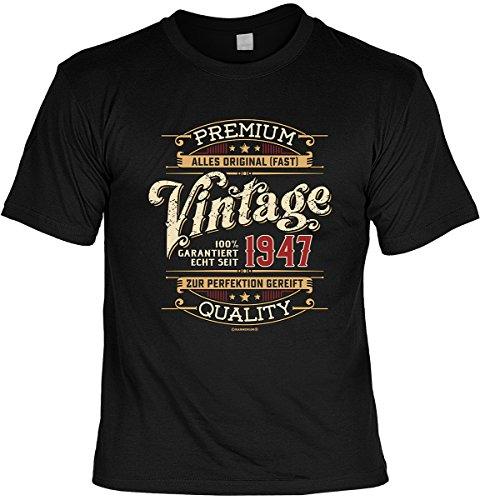 tolles T-Shirt zum 70. Geburtstag Geburtstagsgeschenk Leiberl Geschenk zum 70 Geburtstag 70 Jahre Geburtstagsgeschenk Papa Opa 70-jähriger Echt seit 1947 Schwarz