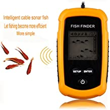 Gearmax® 100M de profundidad Buscador de los pescados del LCD del sensor del sonar del transductor de alarma Fishfinder Portable
