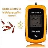 Gearmax® 100M Ecoscandaglio sonar rilevatore portatile fish finder sonar pesca pesci digitale finder immagine