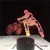 BMX Trickster Lampe de Table Chevet Décor Vélo Limite Mouvement Veilleuse LED Éclairage de Couchage 3D Cadeaux 2995