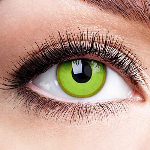 Farbige Kontaktlinsen Ohne Stärke Avatar Linsen Halloween Karneval Fasching Cosplay Crazy Gelbe Augen Anime Motiv Gelb Motivlinsen 0 Dpt