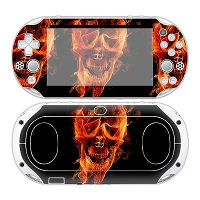 Sony PS Vita 2000 Playstation Skin Design Foils Faceplate Set - Burning Skull Design