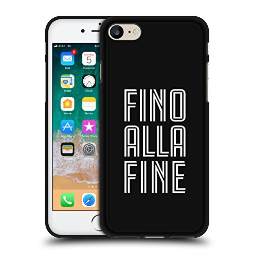 Ufficiale Juventus Football Club Fino alla Fine Design Vari Cover in Morbido Gel Nera per iPhone 7 / iPhone 8