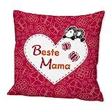 Sheepworld 42552 Baumwoll-Kissen mit Spruch Beste Mama