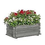 Gartenpirat Pflanzkasten 80x45x32 cm aus Holz grau imprägniert mit Stecksystem