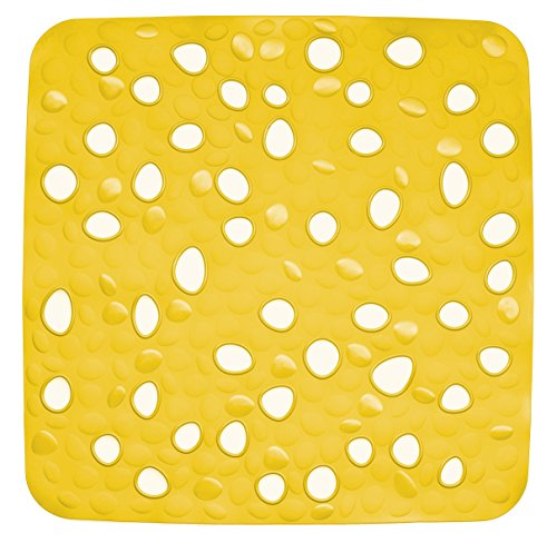 Kela 22160 Duschwanneneinlage Nevada PVC, 53,5 x 53,5 cm, gelb