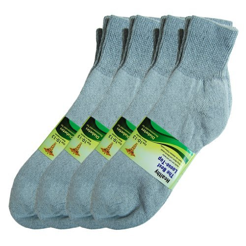 Basico Physicians Diabetic Circulatory Loos Top 12pairs Socks Crew Gray by Basico