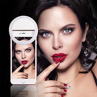 LONGKO Night Selfie Enhancing-6 in 1 12LED (Selfie Light Kit) Enhancing Dimmable w/Wide Angle Len Macro Len and Fisheye Len for Apple iPhone 5/6/6 Plus Samsung S6/Note5 (Any Cell Phone/Tablet) - inexpensive UK light shop.