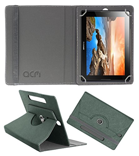 Acm Designer Rotating Leather Flip Case for Lenovo Ideatab A10-70 A7600 Cover Stand Grey  available at amazon for Rs.219