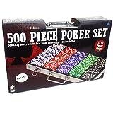 Spinmaster 603677811,5g Dual Tone Ensemble de jeton de poker Mallette en aluminium (500pièces)