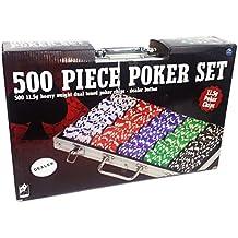 SPINMASTER 603677811,5G doble tono Poker Chip Set en maletín de aluminio (500piezas)