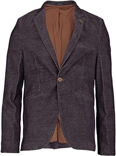YAKE by S.O.H.O. NEW YORK Herren Sakko Slim Fit, Blazer aus Cord, BRIGHTON, Farbe: Dunkellila_002, Größe: 52 (Blazer Herren)