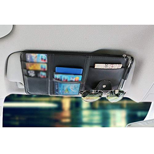 Mirage Auto Sonnenblende Veranstalter Bord Elektronische Zubehör-Speicher-Halter for CD-Clip Interior, Grau (Color : Black)