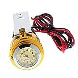 Gazechimp 12v Wasserdicht Motorrad USB Ladegerät Steckdose Adapter Anschluss mit Uhr für Handy - Gold