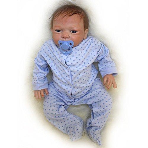 Yesteria Poupée Réaliste de 45cm en Vinyle Siliconé Reborn Baby Doll Toucher...