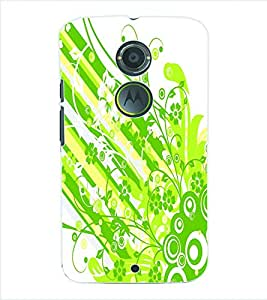 ColourCraft Flower Pattern Back Case Cover for MOTOROLA MOTO X2