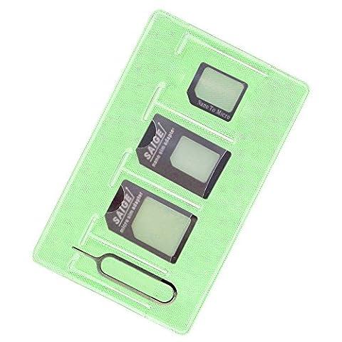 Adaptateur Carte SIM Converter Kit, Includes Nano & Micro Carte