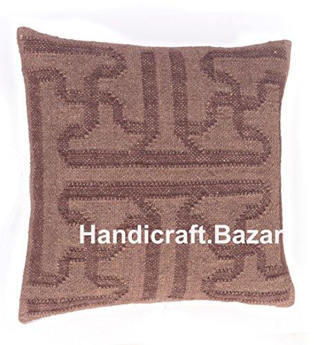 Handicraft Bazar Juego 4 Fundas cojín Yute Hechas