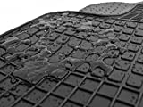 kh Teile Gummimatten Original Qualität Gummi Fußmatten 4-teilig schwarz
