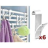Wenko rundheiz Cuerpo de gancho toallero de radiador (6 unidades)