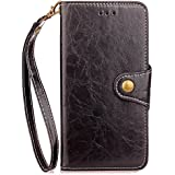 Huawei Ascend G7 Case,Huawei Ascend G7 Case,Durable Premium PU Leather Wallet Snap Case Durable Durable Flip Case Compatible With Huawei Ascend G7 Black