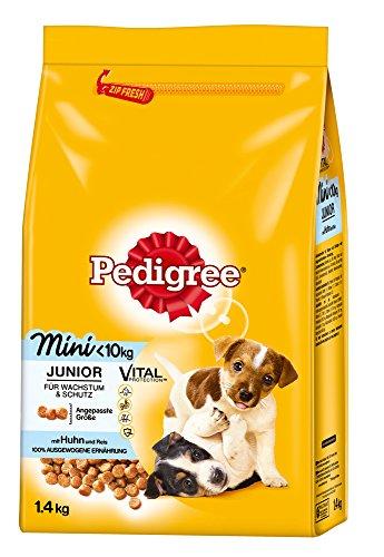 Pedigree Junior Mini Hundefutter mit Huhn und Reis, 6er Pack (6 x 1,4 kg)