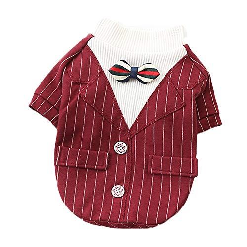 XGPT Hundebekleidung Haustierkleidung Teddy Bär Welpenanzug,Red,L