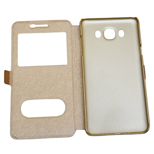 innovative design 53dcd f7f46 75% OFF on nCase Window Flip Cover for SAMSUNG Galaxy On8 - Gold on ...
