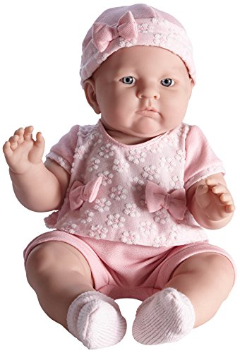 JC TOYS, realistische Baby-Puppe Lily, Hellrosa, 45,7cm