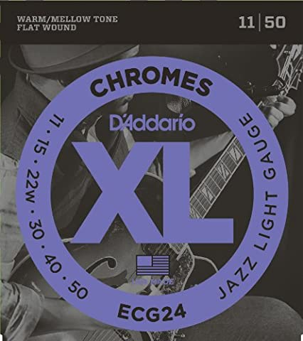 D'Addario ECG24 XL Chromes Jazz Light (.011-.050) Electric Guitar