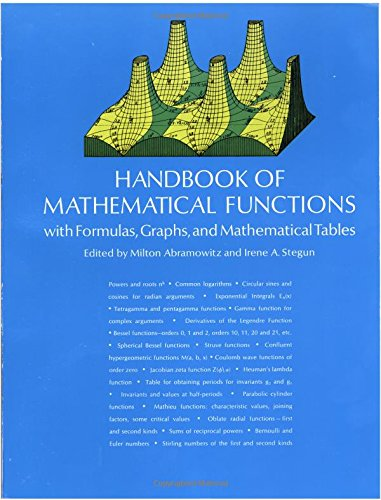 Handbook of Mathematical Functions (Dover Books on Mathematics)
