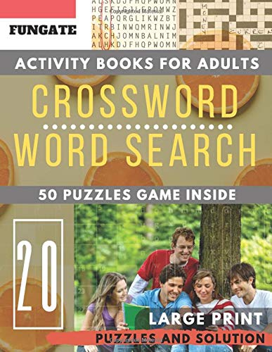 Crossword and Wordsearch books for adults: FunGate Activity books for adults Large Print | Crossword Word search Game and Solutions (Puzzle books for adults Large Print, Band 20) - Bulk-sport-band