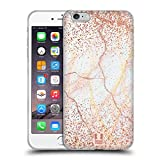 Head Case Designs Rose Gold Marmor Glitzer Druecke Soft Gel Hülle für iPhone 6 Plus/iPhone 6s Plus