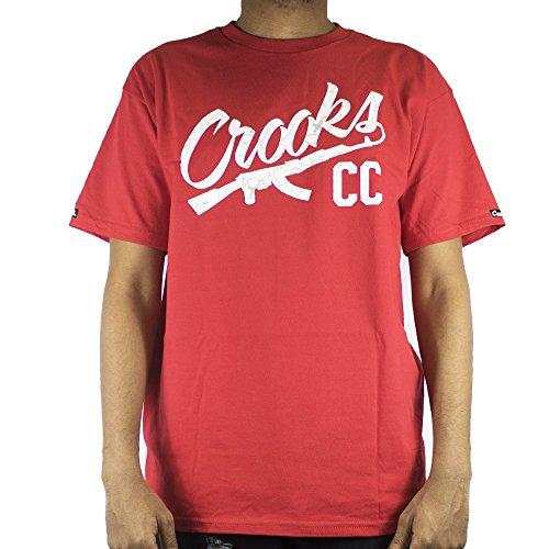 Crooks & Castles Herren T-Shirt True Red